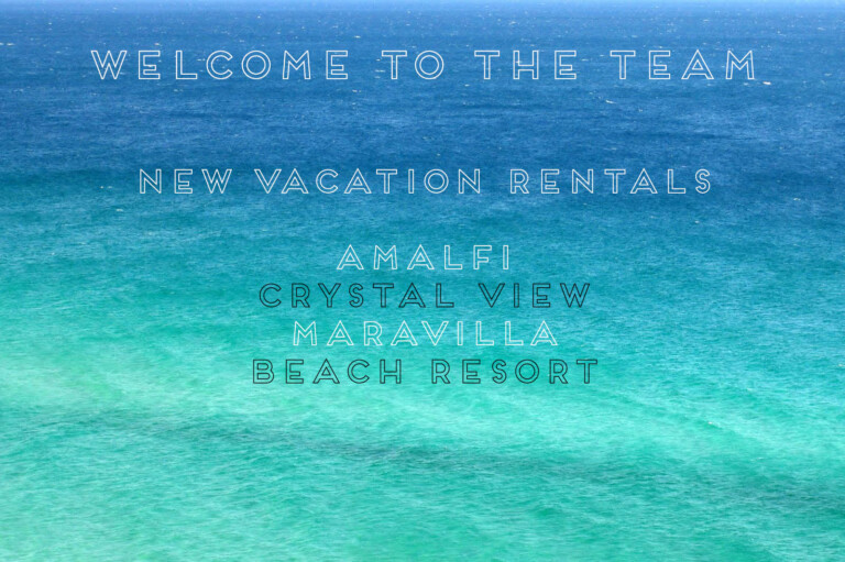 Welcome to the Team – New Vacation Rentals