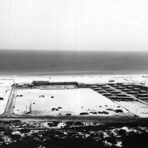 Ariel View of old Holiday inn in Destin