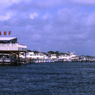 Boats docked at the wharf - Destin, Florida1981