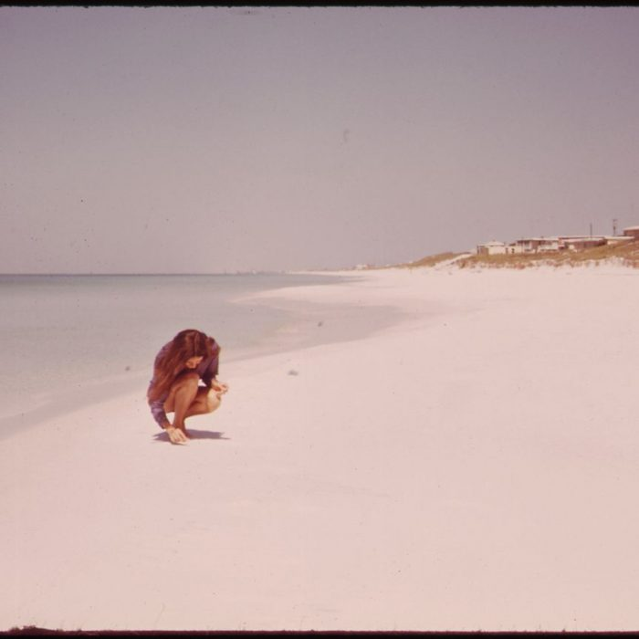 Girl on Beach Destin FL Vintage