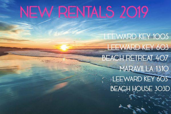 New Vacation Rentals in Destin