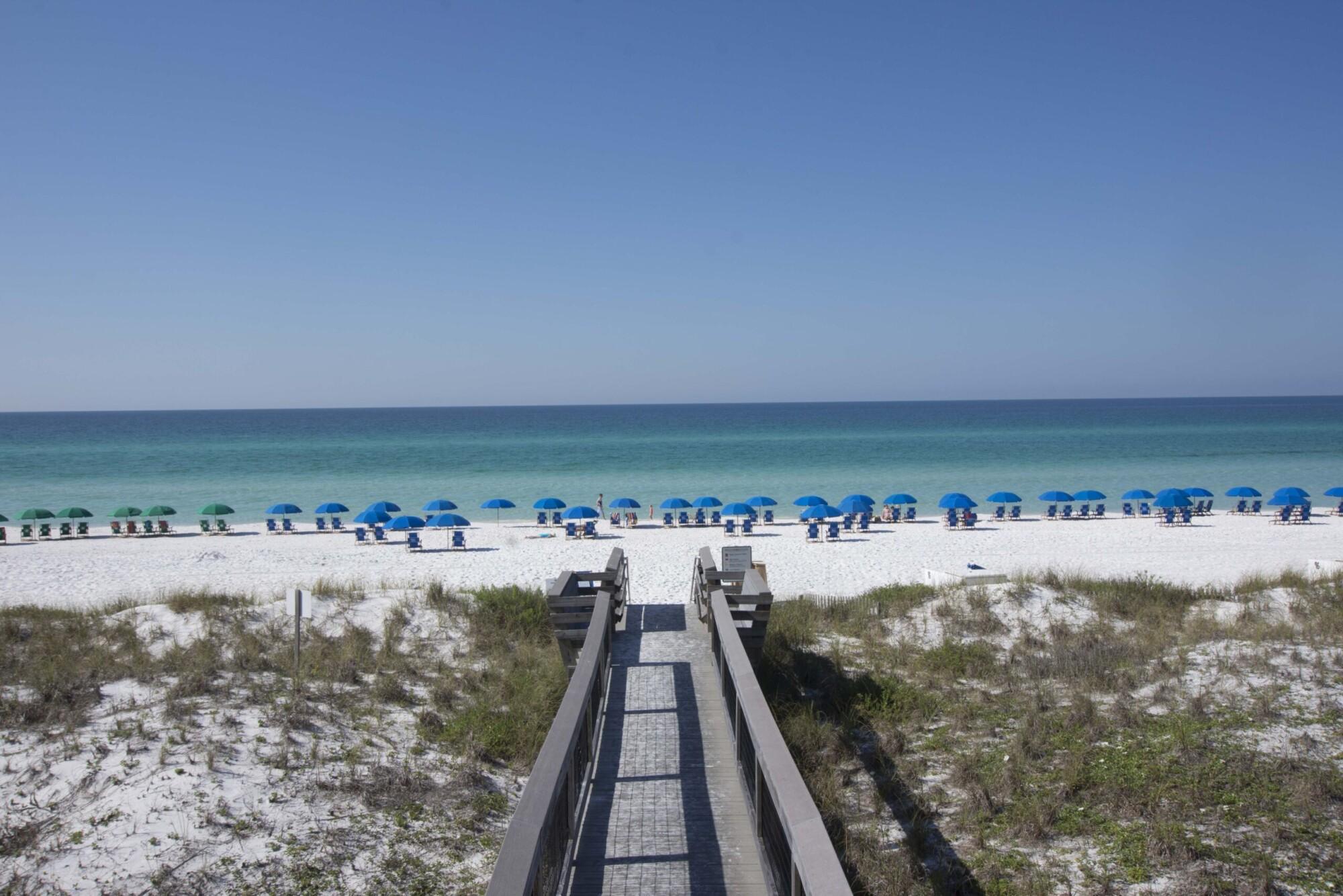 The beach boardwalk at Beach Retreat